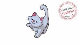 Кошки нарисованные карандашом  Как нарисовать красивое лицо серой кошки за 21 секунду(О том как нарисовать кошку написано уже много. Но при этом всегда найдется человек, который с трудом предста..., 2014-07-21T05:14:03.000Z)