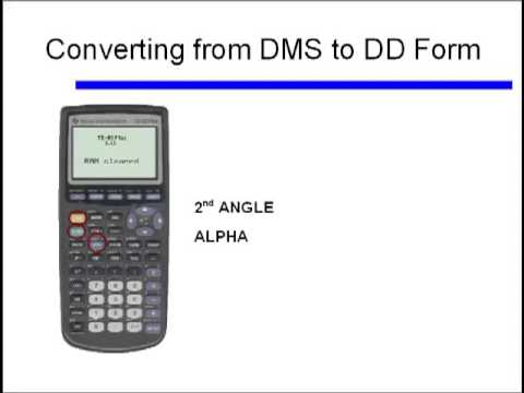 DMS to DD Form for Angles - YouTube
