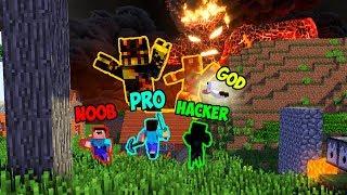 Minecraft NOOB vs PRO vs HACKER vs GOD : LAVA MONSTER BATTLE in Minecraft ! AVM SHORTS Animation