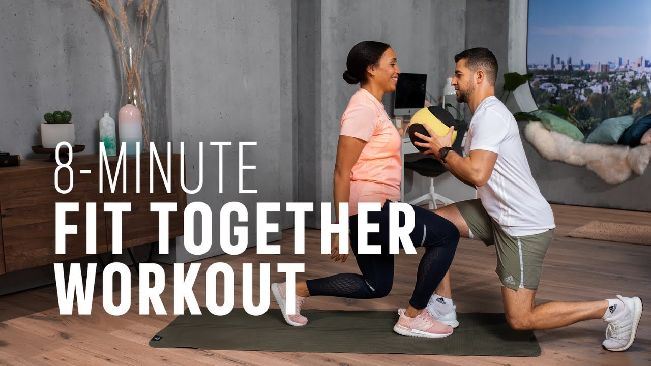 FULL BODY partner home workout | with & without equipment