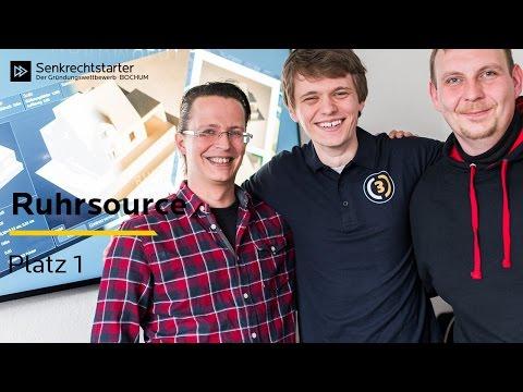 0 - Der Senkrechtstarter 2017: Die RUHRSOURCE GmbH gewinnt Bochumer Jubiläums-Gründungswettbewerb