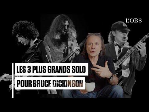 Les 3 plus grands solos de guitare pour Bruce Dickinson