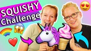 SQUISHY CHALLENGE Eva vs Kathi |Wer kann den süßesten Squishys selber machen?DIY Inspiration deutsch