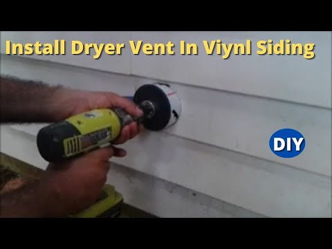 How To Install Dryer Vent And Make A Hole On Vinyl Siding Step By Step    YouTube