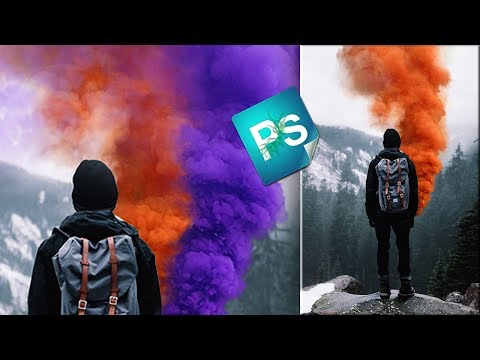 Как покрасить дым в фотошопе