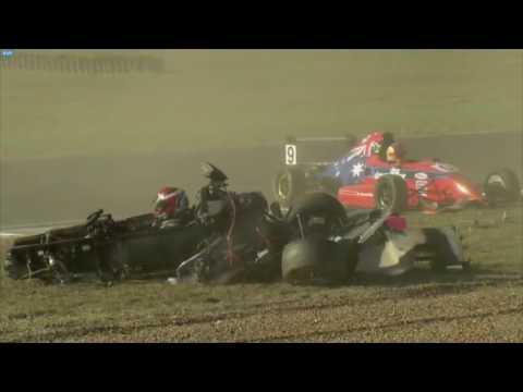 Sports Racer Crash Queensland Raceway
