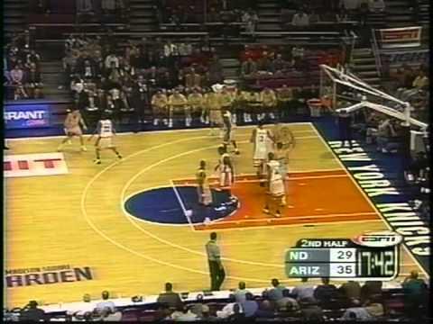 11/24/1999 Preseason NIT Semifinal #1: Notre Dame Fighting Irish vs. #9 Arizona Wildcats