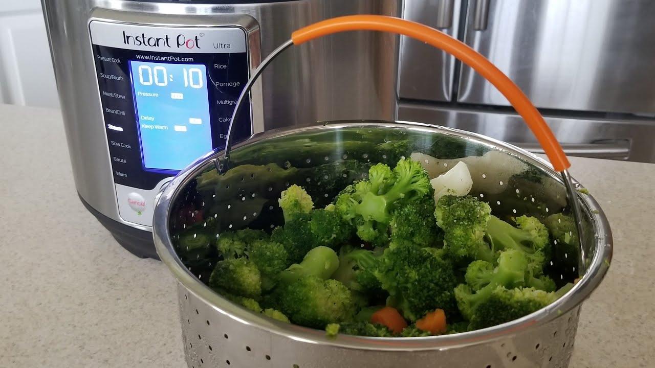 Steamer Basket For 6qt Or 8qt Instant Pot Pressure Cooker From Frozen Vegetables Steamed Broccoli Youtube
