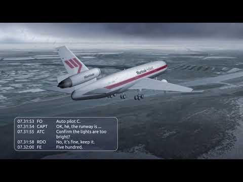 Martinair Flight 495 CVR & Crash Animation (Better Quality)