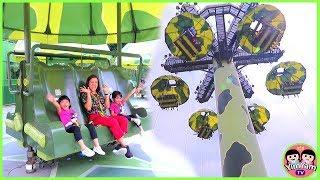หนูยิ้มหนูแย้ม   เที่ยวฮ่องกงดิสนีย์แลนด์ EP6   เล่นโดดร่ม Toy Soldier Parachute Drop