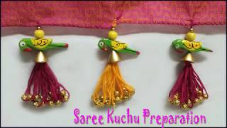 latest saree kuchulu with cotton tassals