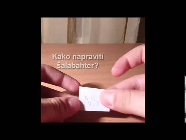 Kako napraviti šalabahter?