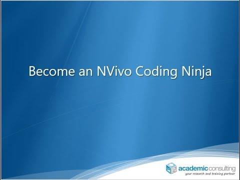 Become an NVivo Coding Ninja