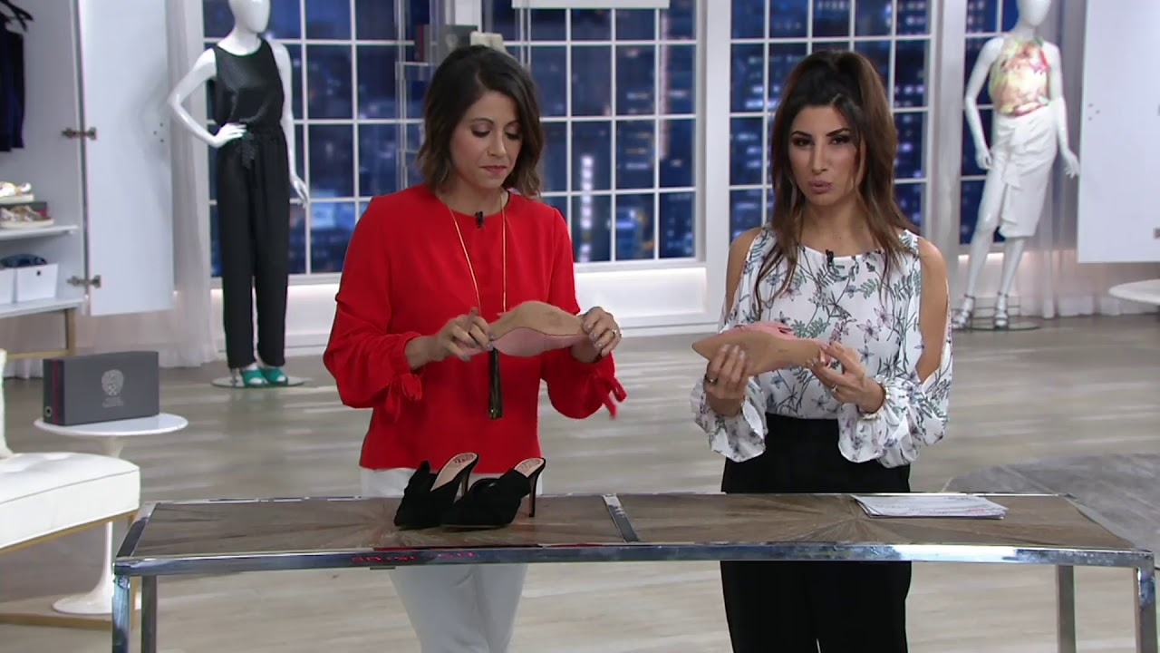d93f10a2a71 Vince Camuto Suede Slip-On Heeled Mules - Amillada on QVC - YouTube