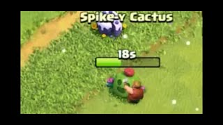 REMOVE SPIKE-Y CACTUS IN CLASH OF CLANS What's inside in the all new obstacles ( spikey cactus )🔥🔥