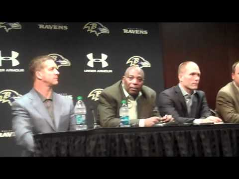 Ravens GM Ozzie Newsome comments on the contract of Ray Rice.
