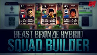BEAST BRONZE CROWN HYBRID! w/BENZIA! | FIFA 13 Ultimate Team Squad Builder