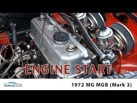 MG MGB Mark3 - Engine start and run - carphile.co.uk