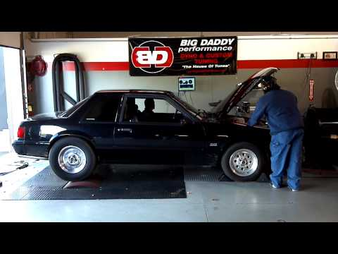 Big Daddy tuning my mustang notch 347 with blower & C4.