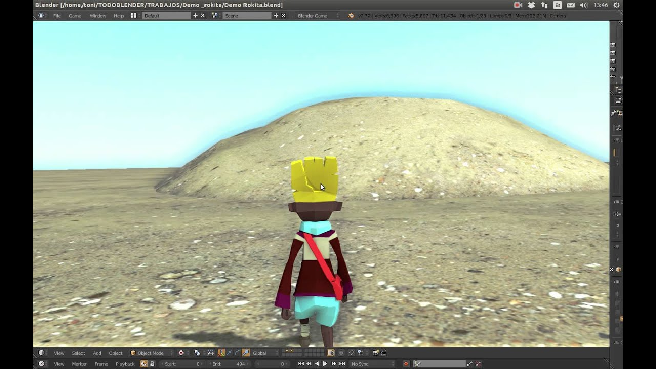 Blender Game Engine Third Person Controller Camer Youtube