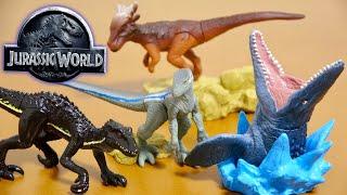 ジュラシックワールド  炎の王国 デスクトップフィギュア 全4種類 モササウルス スティギモロク インドラプトル  ブルー 子供向け Dinosaur Jurassic World