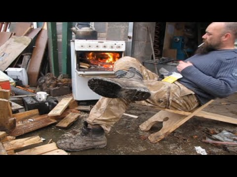 How to make a Wood burning stove for under $1!! Emergency Hack