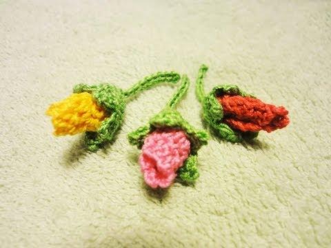 Бутон розы Rose bud Crochet -