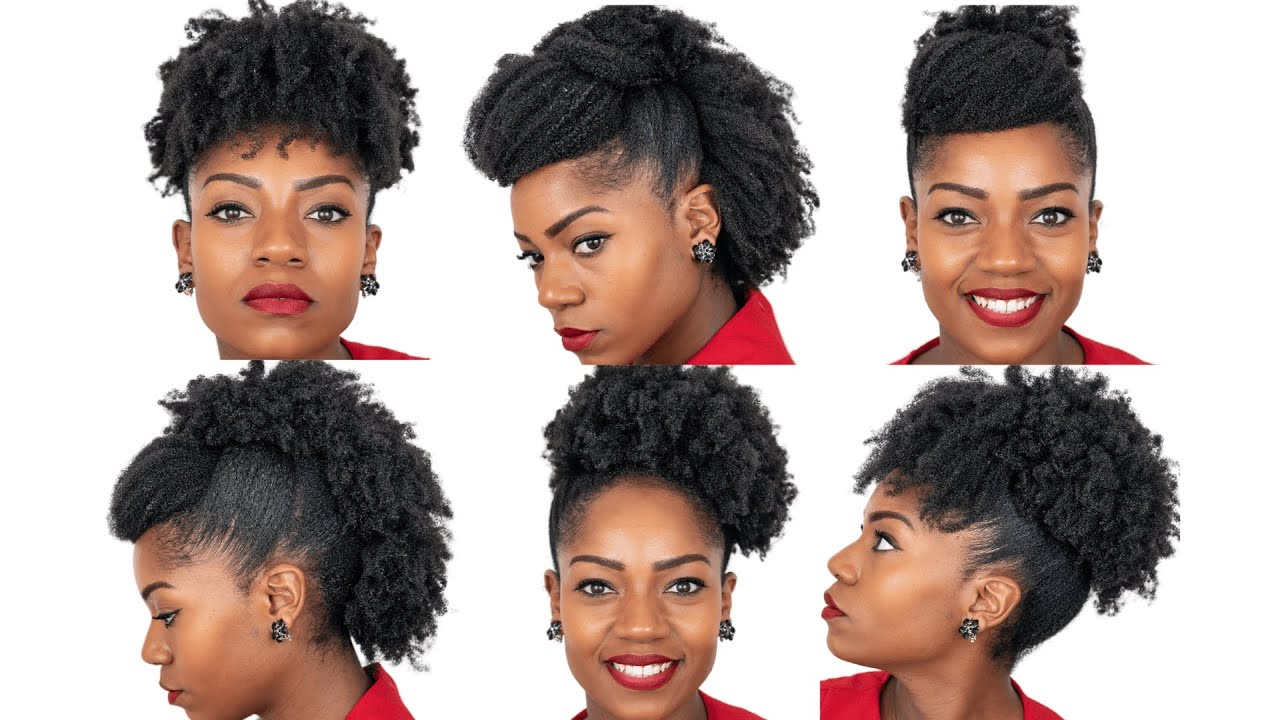 6 Natural Hairstyles For Medium Length Natural Hair Special Occasions 4b 4c Natural Hair Youtube