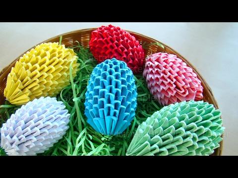 Origami Easter egg - Easter craft ideas - Modular origami