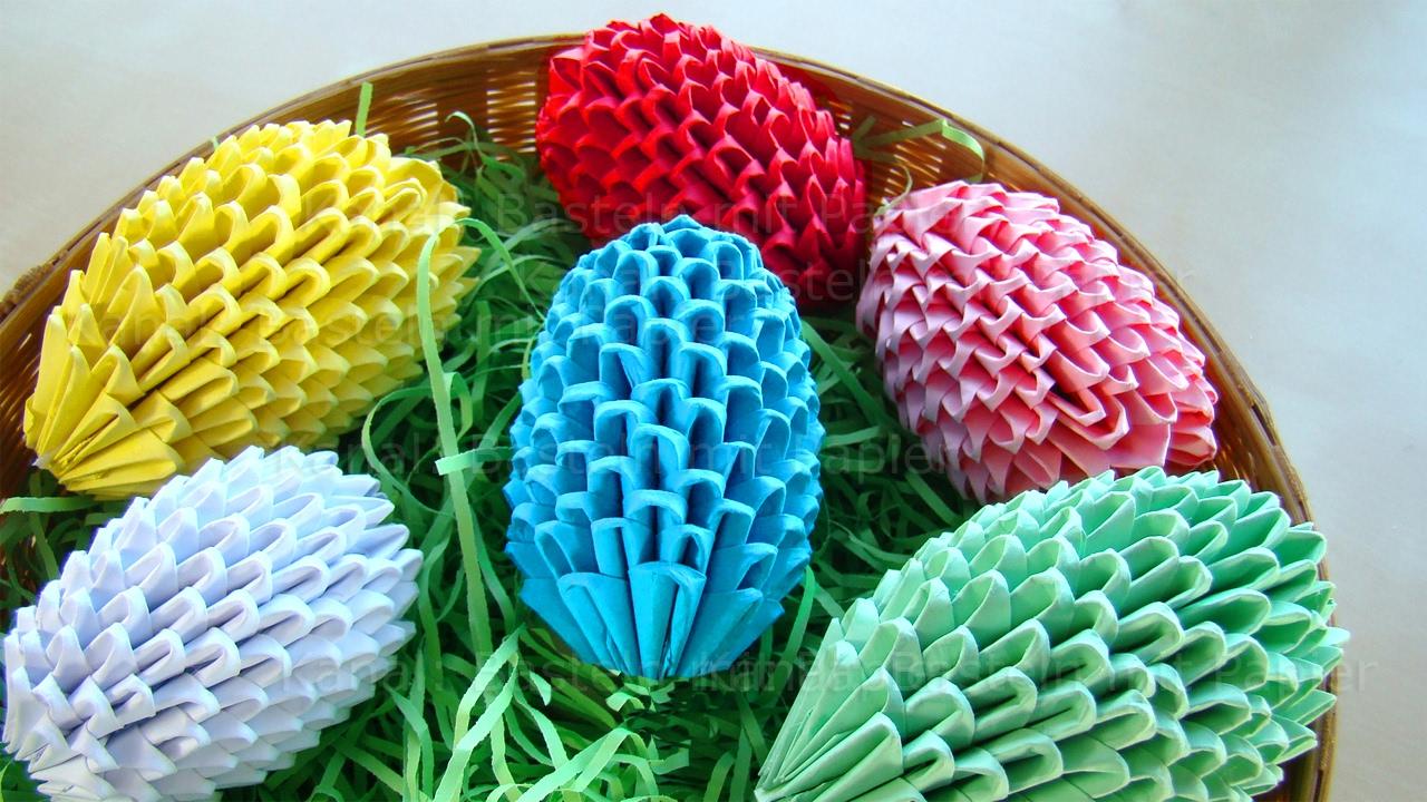 origami ostereier selber basteln ostern osterbasteln mit papier ostergeschenke diy. Black Bedroom Furniture Sets. Home Design Ideas
