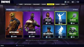 BATTLE HOUND AND BANDOLIER SKIN IN FORTNITE ITEM SHOP