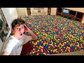 Filling my ENTIRE House with BALL PIT BALLS in