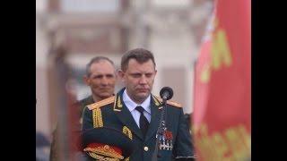 Пьяный Захарченко на параде Победы в Донецке