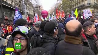 Manifestation contre la réforme des retraites à Paris