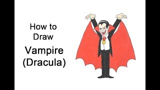 How to Draw a Vampire (Dracula) for Halloween!