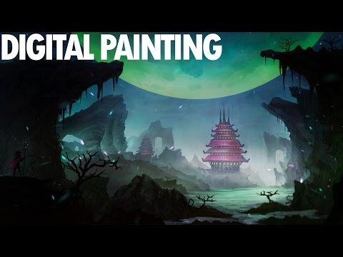 FANTASY LANDSCAPE | DIGITAL PAINTING Time-Lapse Photoshop CS6