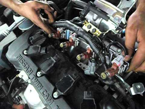 How The Injectors Working In Nissan Sunny N16 2015 Youtube