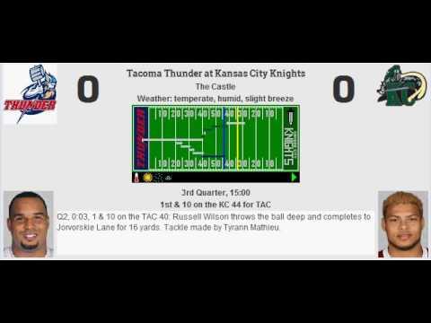 Week 14: Tacoma Thunder (8-5) @ Kansas City Knights (3-10)