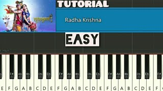 Radha Krishna Serial Song Piano Tutorial | Radha Krishna | Star Bharat | Easy Piano Tutorial
