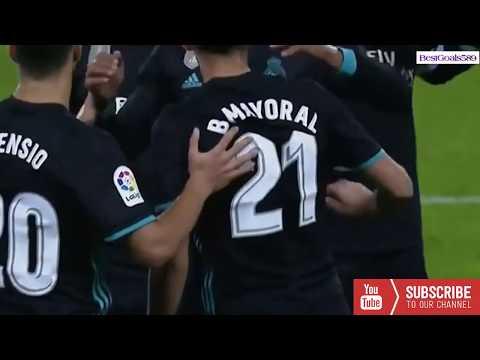 Real Sociedad vs Real Madrid 1er goals  B. Mayoral 1-3 17-9-2017 thumbnail