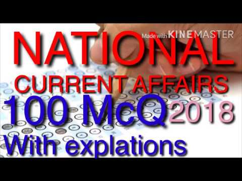NATIONAL CURRENT AFFAIRS 100 MCQ WITH EXPLATIONS(Right Academy