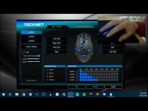 98c6a47dadb TeckNet RAPTOR Pro Programmable Gaming Mouse Review - YouTube