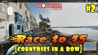 Geoguessr - The Race to 15 [Countries In a Row] #2 - WOWZERS. thumbnail