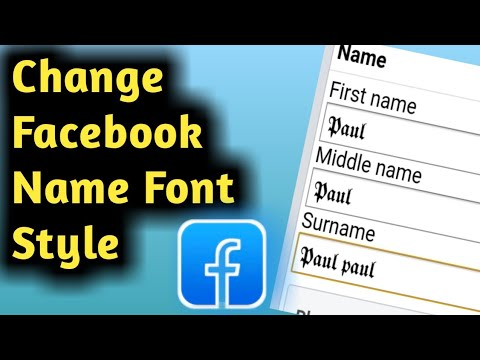 How To Change Facebook Name Font Style