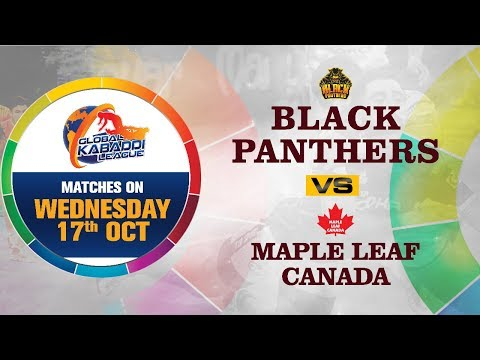 Global Kabaddi League 2018 | Black Panthers V/S Maple Leaf Canada