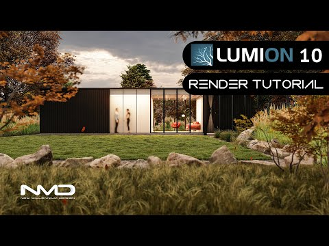 LUMION 10 Pro Black Container House Render Tutorial