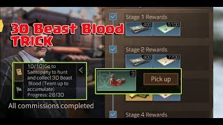 LifeAfter - 30 Beast Blood Mission Trick