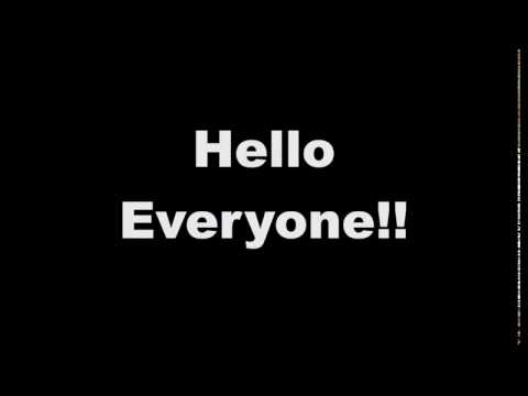 Hello Everyone!! (Introduction)
