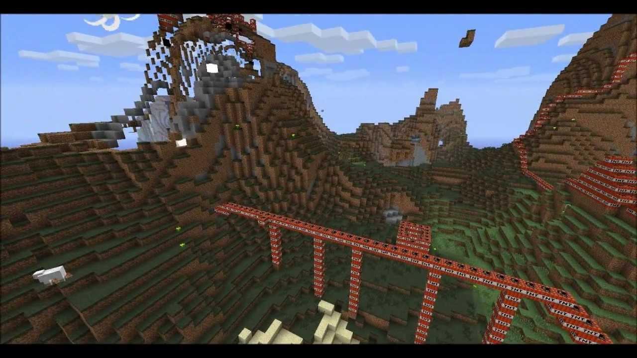 Werelds grootste tnt ontploffing minecraft youtube - Huis placemat wereld ...
