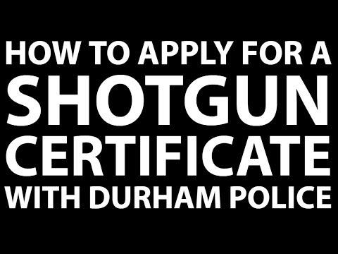 Shotgun certificate form 201